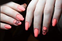 Geometria da laranja do projeto do tratamento de mãos Fotografia de Stock