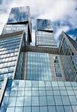 Geometria de aço e de vidro Imagem de Stock Royalty Free