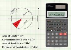 Geometria de um círculo ilustração stock