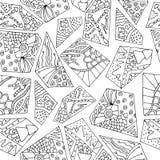 Geometria de Zentangle Imagens de Stock Royalty Free