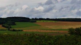Geometria do campo após a tempestade foto de stock