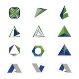Geometria do logotipo Fotografia de Stock