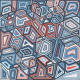 A geometria do papel de parede diferente dos triângulos da cor Ilustração Stock