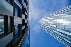 Geometria do prédio de escritórios Fotos de Stock