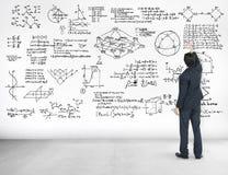A geometria do símbolo matemático da equação da matemática da fórmula informa Imagem de Stock