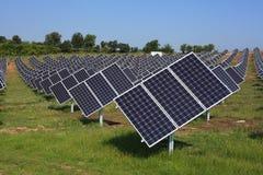 Geometria dos painéis photovoltaic Imagens de Stock