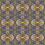 Geometria rocznika kwiecisty bezszwowy wzór Obraz Stock