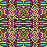 Geometria rocznika kwiecisty bezszwowy wzór Obrazy Stock