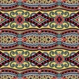 Geometria rocznika kwiecisty bezszwowy wzór Zdjęcie Royalty Free