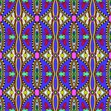 Geometria rocznika kwiecisty bezszwowy wzór Fotografia Stock