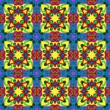 Geometria rocznika kwiecisty bezszwowy wzór Zdjęcia Royalty Free