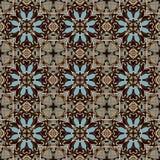 Geometria rocznika kwiecisty bezszwowy wzór Zdjęcia Stock