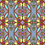Geometria rocznika kwiecisty bezszwowy wzór Obrazy Royalty Free