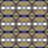 Geometria rocznika kwiecisty bezszwowy wzór Fotografia Royalty Free