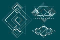 Geometria sagrado, da alquimia e de espaço Foto de Stock Royalty Free