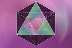 Geometria sagrado em um fundo cor-de-rosa Foto de Stock Royalty Free