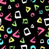 Geometria sem emenda do grunge do teste padrão Foto de Stock Royalty Free