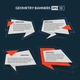 Geometria teksta sztandarów Origami styl Fotografia Royalty Free