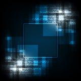 Geometria w technologii pojęciu na zmroku - błękitny tło Obrazy Royalty Free