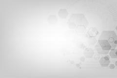 Geometria w technologii pojęciu na szarym tle Obrazy Stock