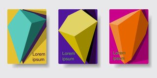 Geometric Absract background. Set of geometric absract backgrounds. Applicable for poster, brochure, flyer, template. Cover design. Vector illustration EPS 10 Royalty Free Stock Photo