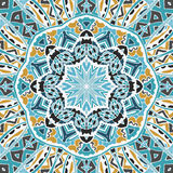 Geometric abstrac  mandala pattern Royalty Free Stock Photo