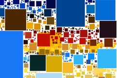 Geometric Abstract. Abstract composition. Colorful blured squares vector illustration