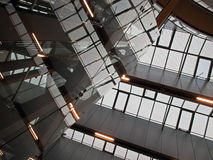 Geometric abstract architecture. Ceiling of modern IT business corporate office building Royalty Free Stock Photo