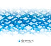 Geometric Abstract Architecture Backgrounds. Geometric modern urban pattern, blue and white abstract architecture banner background Royalty Free Stock Image