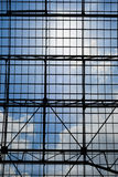 Geometric abstract architecture with sky at the background Royalty Free Stock Photography