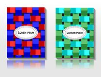 Geometric abstract art background and pattern set royalty free illustration