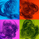 Geometric abstract art with random irregular spirals Royalty Free Stock Images