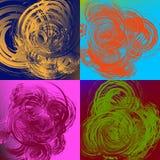 Geometric abstract art with random irregular spirals Royalty Free Stock Photos