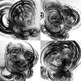 Geometric abstract art with random irregular spirals Stock Photos