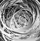 Geometric abstract art with random irregular spirals Royalty Free Stock Photography