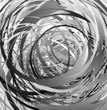 Geometric abstract art with random irregular spirals Stock Photo
