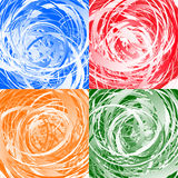 Geometric abstract art with random irregular spirals Stock Image