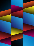 Geometric abstract background. Blue, red, yellow and orange abstract geometric background. Vector Image Stock Photos