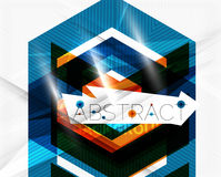 Geometric abstract background. Arrow design Royalty Free Stock Images