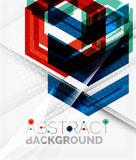 Geometric abstract background. Arrow design Royalty Free Stock Photo
