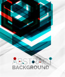 Geometric abstract background. Arrow design Stock Images