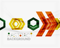Geometric abstract background. Arrow design Stock Photography