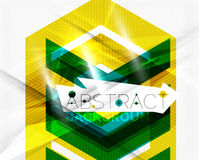 Geometric abstract background. Arrow design Stock Photo