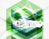 Geometric abstract background. Arrow design Royalty Free Stock Image