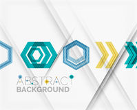 Geometric abstract background. Arrow design Stock Photos