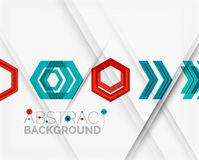 Geometric abstract background. Arrow design. Geometric abstract background. Arrow, technology or motion concept Stock Image