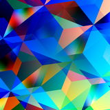 Geometric Abstract Background. Blue Mosaic Pattern. Triangle Design. Color And Art Patterns. Illustration Graphic. Chaotic. Royalty Free Stock Image