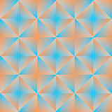 Geometric abstract background blue and orange Royalty Free Stock Photos