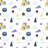 Geometric abstract background color pattern. Hipster fashion Memphis style.  vector illustration