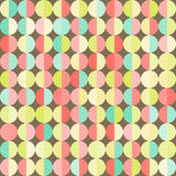 Geometric abstract background with colorful circles Royalty Free Stock Photography